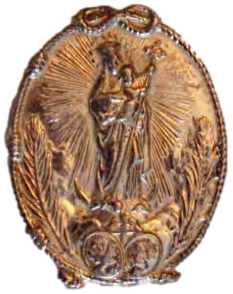 Le médaillon, commandé par Mère María de Jesús Taboada, pour commémorer la vision de Mariana de Jesús Torres
