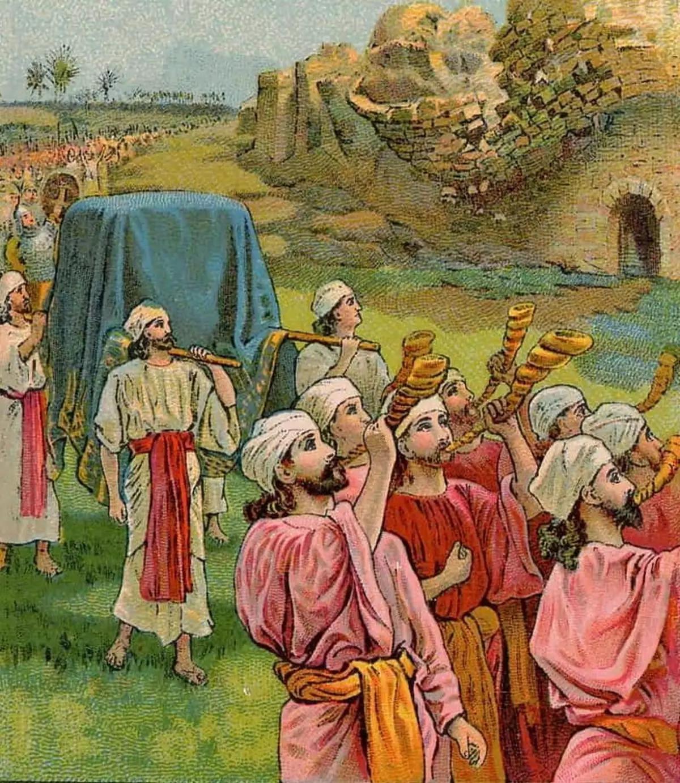 Les Israélites devant les murailles de Jéricho
