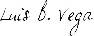 Luis B. Vega (signature)