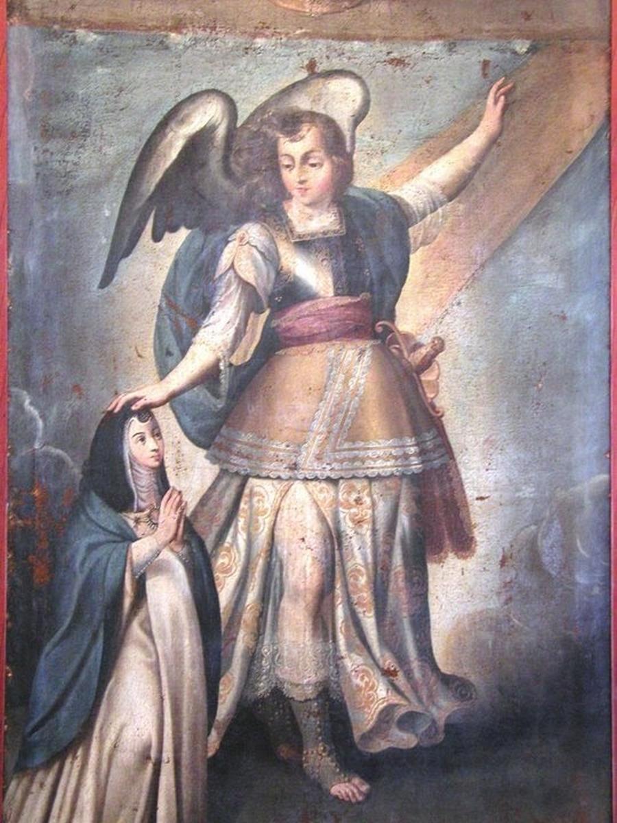 Mère Mariana avec l'archange