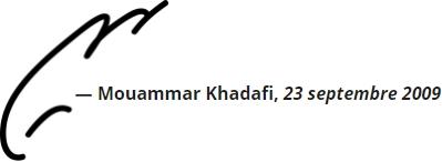 Muammar Gaddafi (signature)