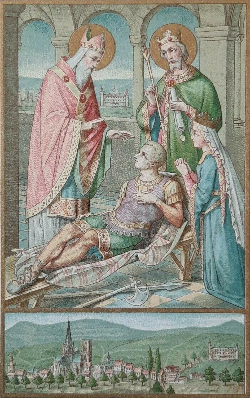 Saint Arbogast ressuscitant Sigebert IV, fils du roi Dagobert II