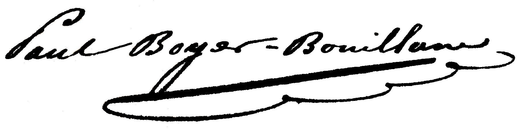 Signature de Pierre Paul Henri Dominique Boyer de Bouillane (1848-1908)