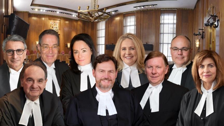 Les neuf juges de la Cour suprême du Canada sont entièrement vaccinés contre la COVID et les employés devront l'être aussi pourtravailler