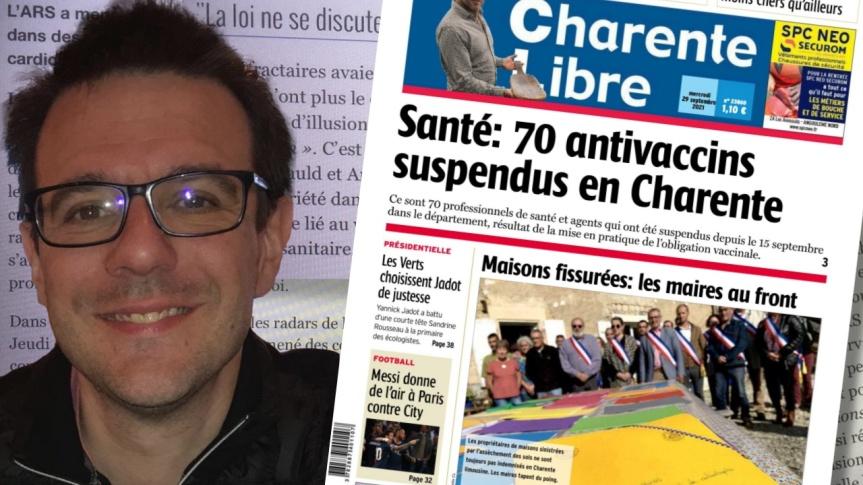 L'Agence régionale de santé, en Charente, a notifié sa suspension d'exercice au Dr Julien Devilléger pour s'être opposé à lavaccination