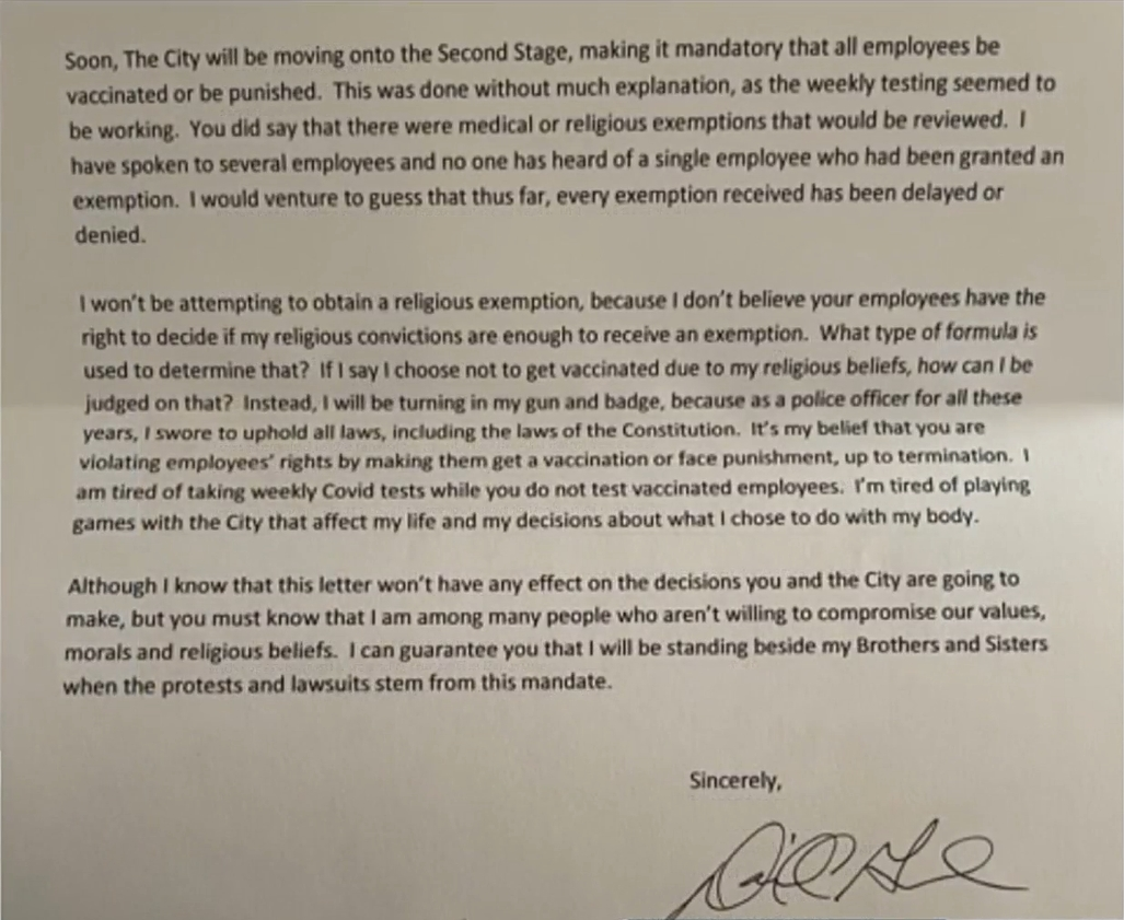 Sgt. David Gutierrez (lettre)