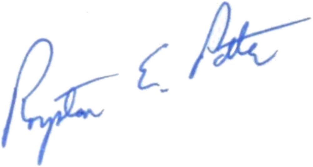 Ltc Royston Potter (signature)